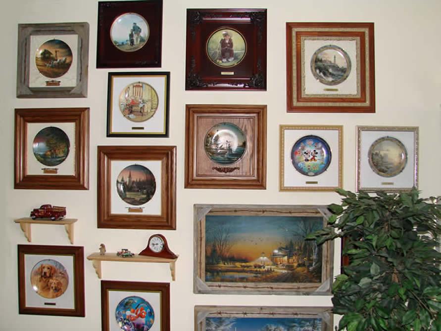 Creative Ideas | collector plate frames | collector plates | plates ...